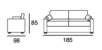 Dimensions sofasilB