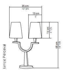 Objet Insolite Lampe Perceval