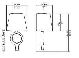 DONNA lampe applique objet insolite France